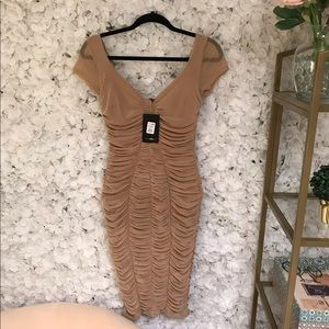 NWT! Textured Slimming Nude Dress